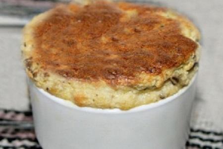 دستور پخت سوفله بادمجان , سوفله بادمجان با گوشت ,  سس سفید سوفله بادمجان