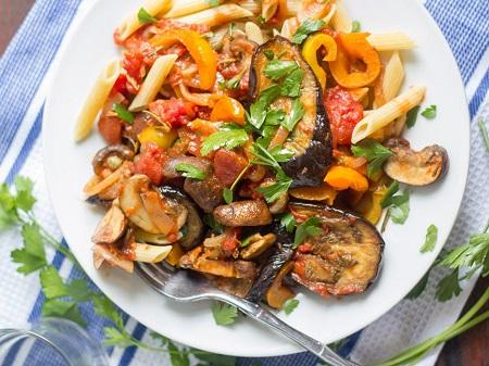 طرز تهیه انواع غذا با قارچ, انواع غذا با قارچ,خوراک قارچ و بادمجان