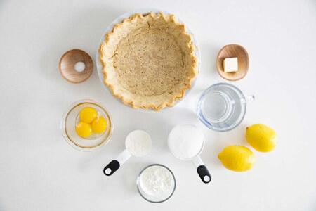 روش های تهیه ی پای مرنگ لیمو, مواد لازم برای تهیه ی پای مرنگ لیمو, پخت پای مرنگ لیمویی