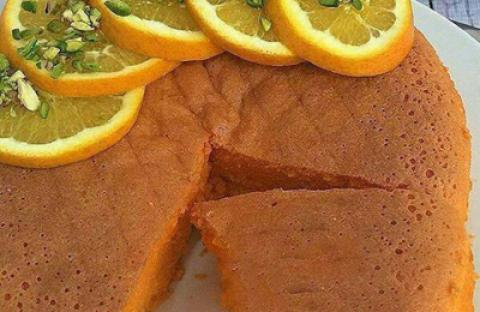 طرز تهیه کیک ژله ای پرتقالی
