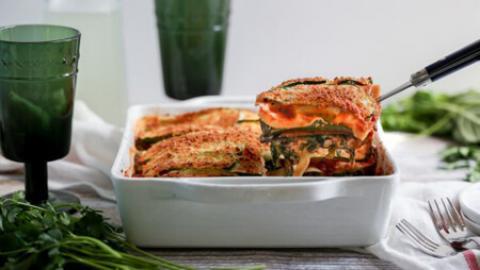 طرز تهیه لازانیا مدیترانه ای روش پخت لازانیای مدیترانه ای