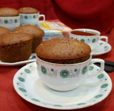 طرز تهیه کیک فنجانی شیره انگور