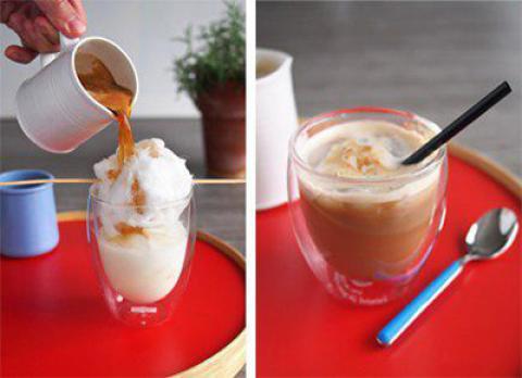 طرز تهیه قهوه با پشمک