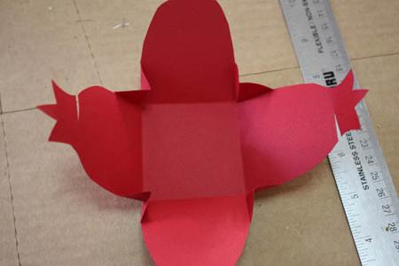 آموزش تصویری ساخت جعبه هدیه اناری, آموزش مرحله ای ساخت جعبه اناری