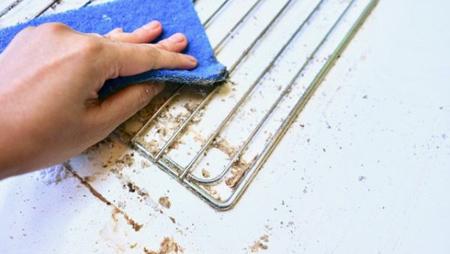 روش تمیز کردن توری فر,نحوه تمیز کردن توری فر