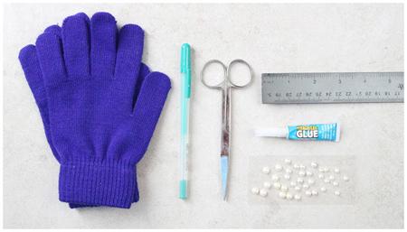 ایده برای تزیین دستکش های ساده