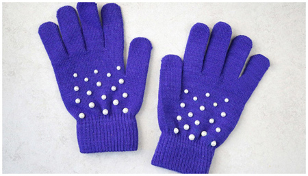 تزیین دستکش با مروارید,تزیین دستکش های بدون کاربرد