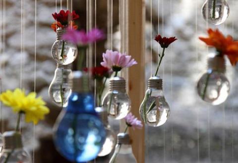 ایده هایی برای استفاده دوباره از لامپ ها