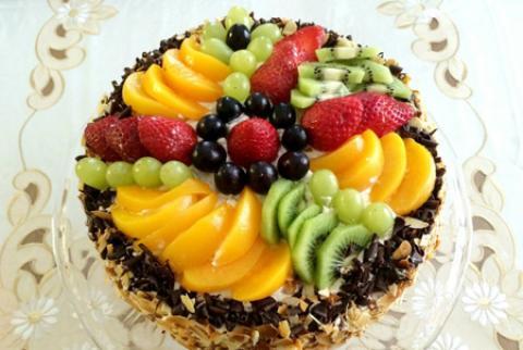 تزیین کیک اسفنجی با میوه - سری سوم