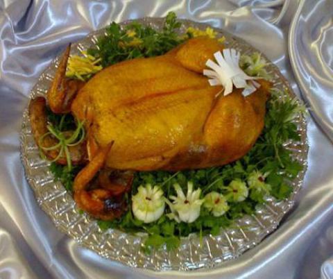تزیین مرغ شکم پر - سری سوم