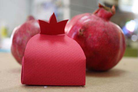 ساخت جعبه کادو به شکل انار
