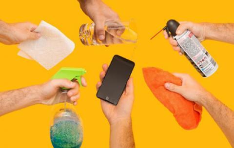 نحوه ضد عفونی کردن تلفن هوشمند