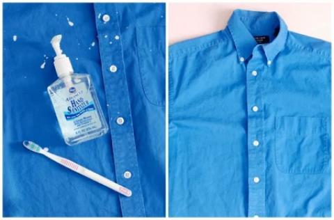 تمیز کردن لکه های رنگ از روی لباس چگونه لکه رنگ را از روی لباس پاک کنیم؟