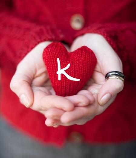 تزیینات حرف k, طراحی حرف k