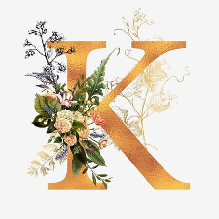 تصویر حرف k, کارت پستال های حرف k