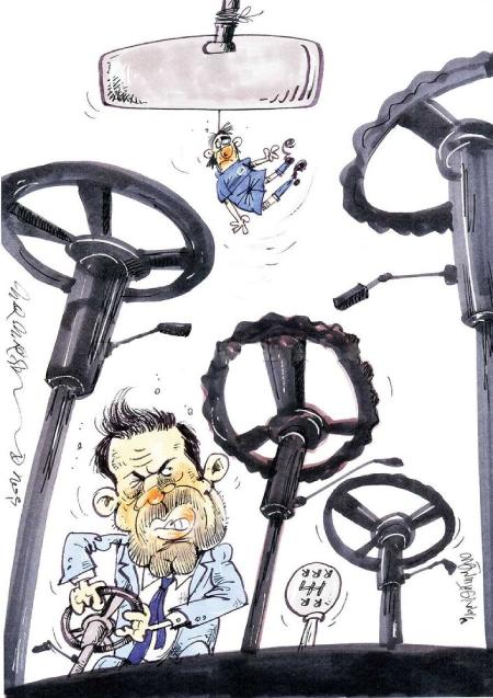 کاریکاتور ازدواج, کاریکاتور های سیاسی