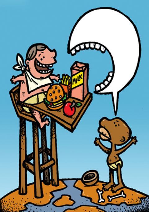 کاریکاتورهای مفهومی روز جهانی غذا