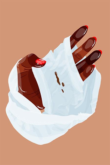 ترشحات قهوه ای رنگ واژن,علت ترشحات قهوه ای رنگ واژن,ترشحات قهوه ای واژن