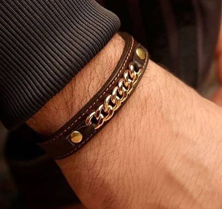 مدل دستبند پسرانه, دستبند مردانه چرمی