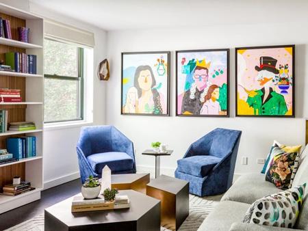 کاربرد رنگ آبی در خانه, استفاده از رنگ آبی در خانه