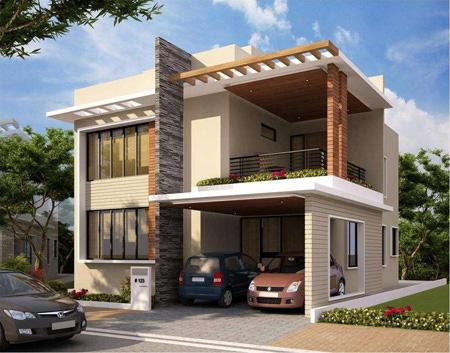 مدل نمای ساختمان, نمای خانه های دوبلکس