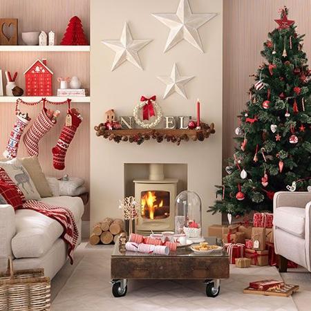 تزیین شومینه در کریسمس, تزیین نرده ها در جشن کریسمس