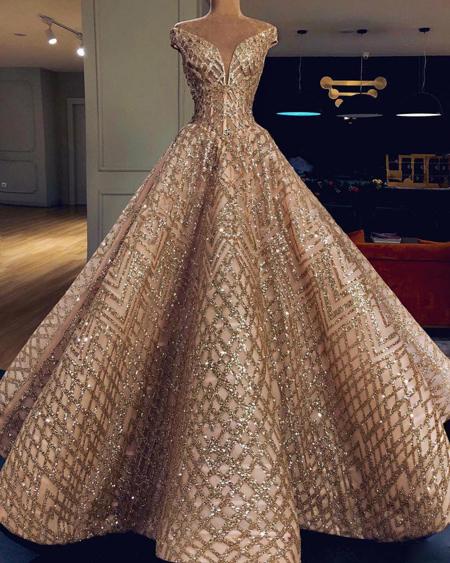 لباس بلند مجلسی,لباس مجلسی لمه