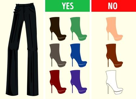 کفش های مناسب شلوارهای رنگی,آشنایی با کفش های مناسب شلوارهای رنگی