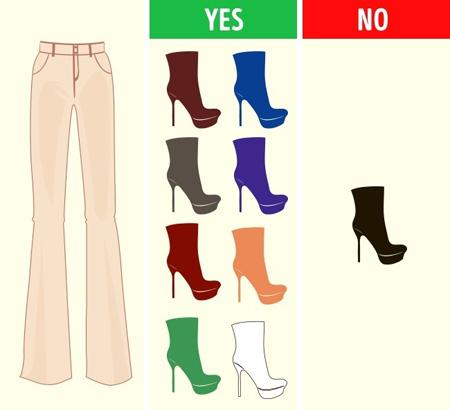نحوه ست کردن رنگ شلوار با کفش, ست کردن رنگ شلوار و کفش