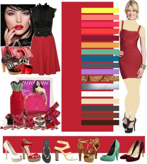 رنگ قرمز با چه رنگی ست می شود؟