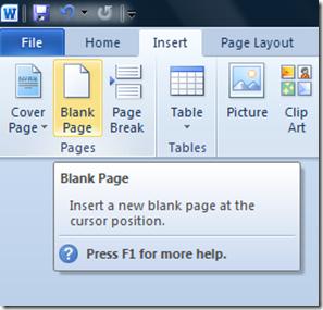 نحوه ایجاد صفحه جدید در Word به صورت صحیح, اضافه کردن صفحه به ورد