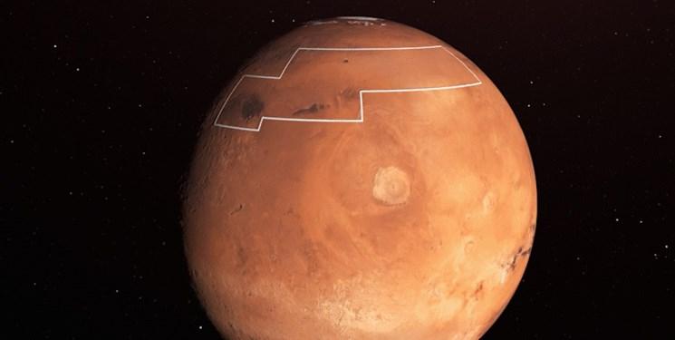 تصویری عجیب از یخ در مریخ