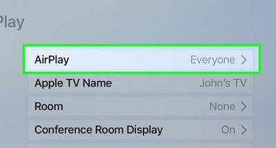 فعال کردن airplay در آیفون, ایرپلی در آیفون کجاست