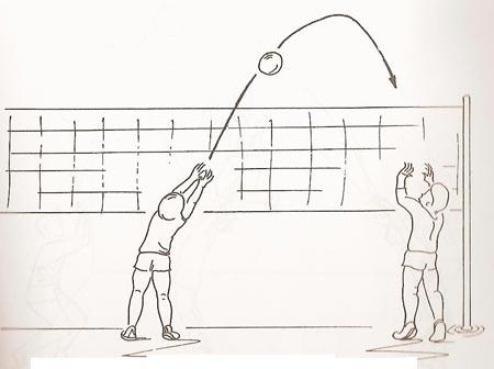 عکس نقاشی توپ والیبال