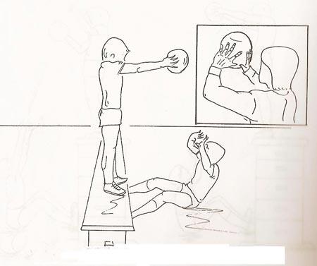 نقاشی از توپ والیبال