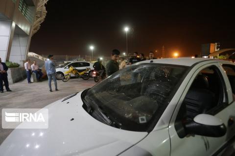 تخریب خودرو ها بعد از بازی پرسپولیس و سپاهان در اصفهان (+تصاویر)