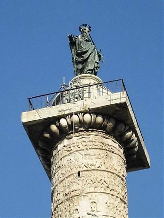 ستون مارکوس اورلیوس از بناهای تاریخی روم (+تصاویر)