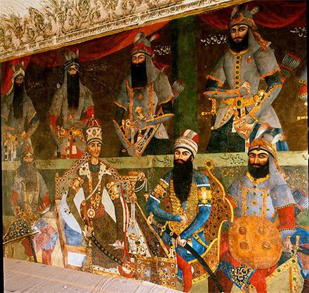 کاخ سلیمانیه,نقاشی های کاخ سلیمانیه,تاریخچه کاخ سلیمانیه