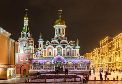 کلیسای کازان، از بناهای پربازدید مسکو (+تصاویر)