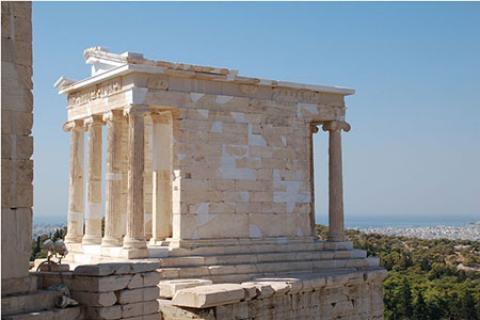 معبد آتنا، از جاذبه های گردشگری یونان